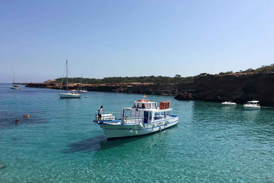 ruta barco san antonio cala conta