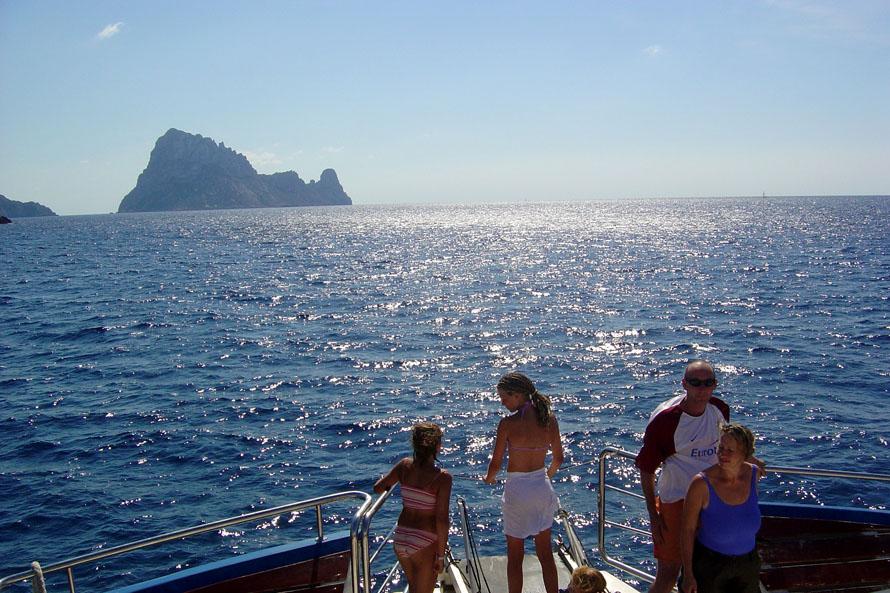 Excursión en barco a Es Vedrá - Vista desde la proa